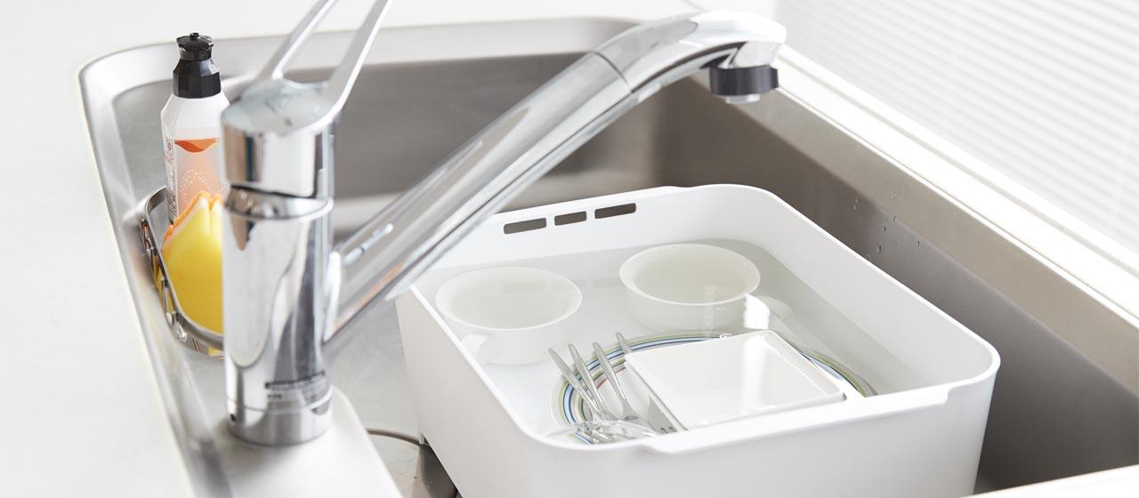 「ほったらかし洗い」で、食器洗いがもっとラクラク!