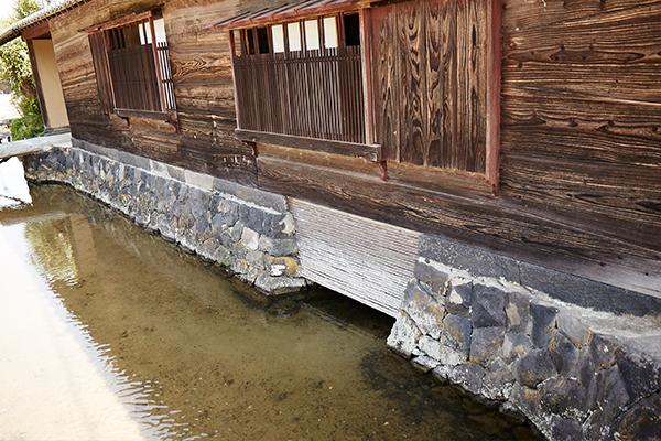写真:ハトバ」で使用した水が川に戻る仕組み