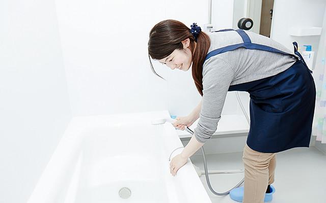 写真:お風呂掃除×音楽の体験