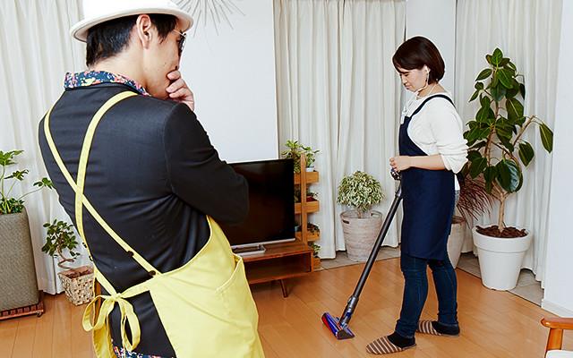 写真:掃除機がけ×音楽の体験