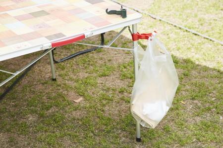 写真:キャンプ用ゴミ袋(クリップ止め)