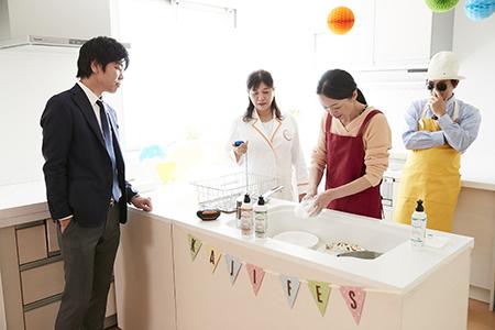 吉田ママのコップとボウル洗い