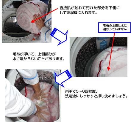 洗濯機で「毛布を洗う方法」