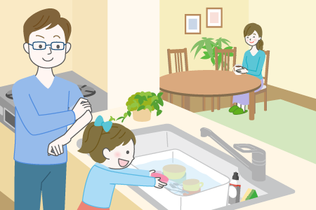 「ほったらかし洗い」で家事シェア
